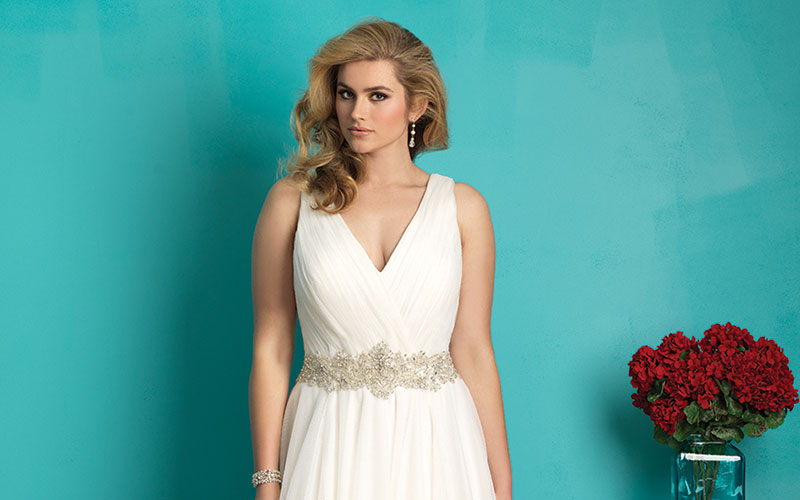 Plus size bridal wear